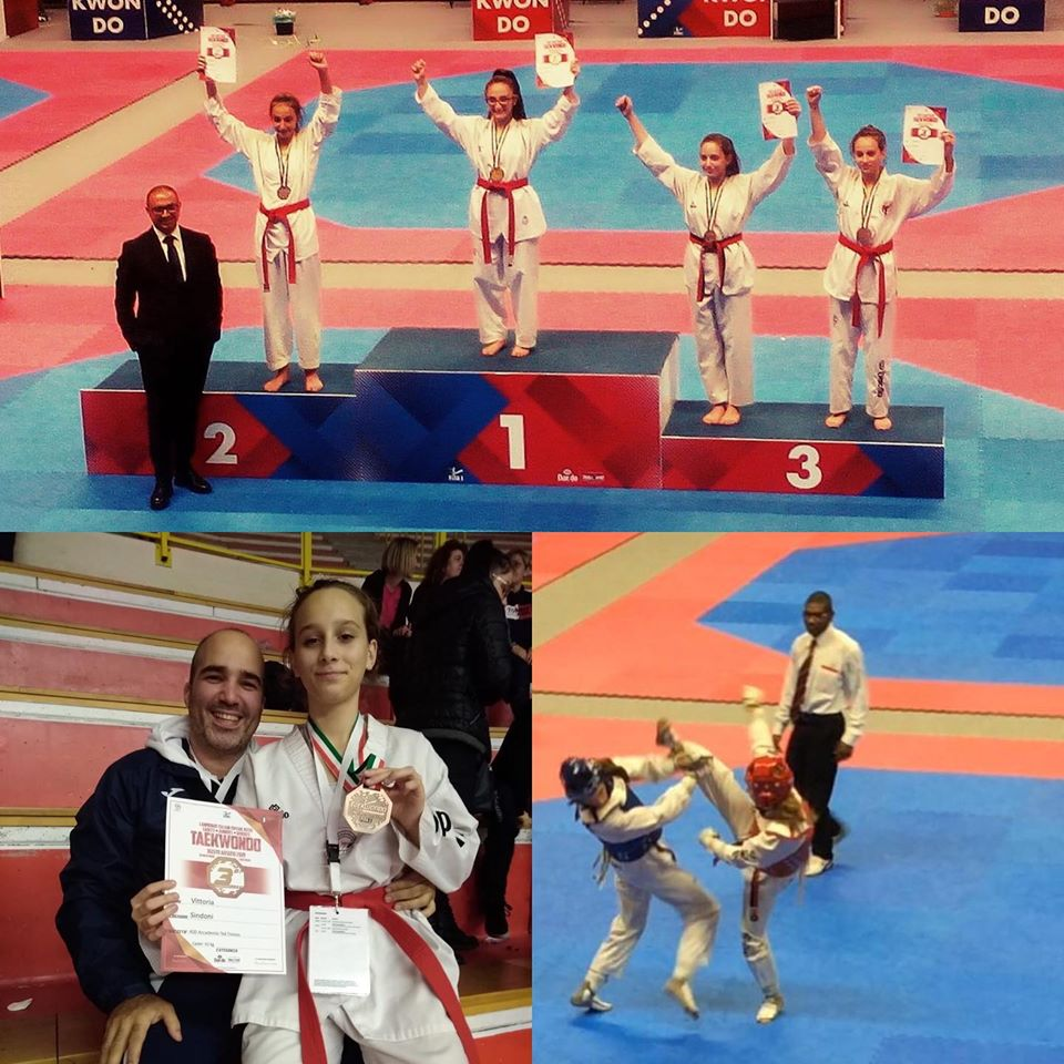 Medaglia di bronzo Vittoria Sindoni – campionati italiani cinture rosse